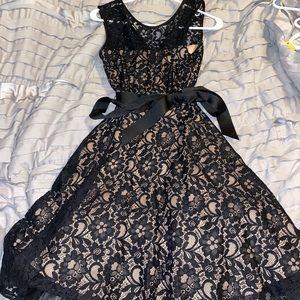 "a size ""2"" black and tan dress!!"